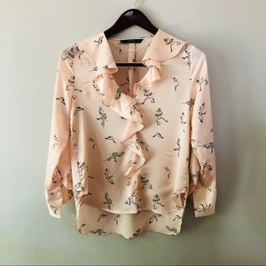 Zara Bird Blouse